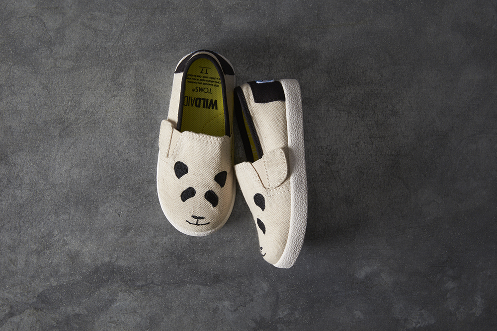 The TOMS x WildAid Panda Collection