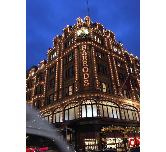 First we picked up Dirk and Diego (whom live in the UK) at their school as a surprise..then we went straight into town…Harrods was our first stop..